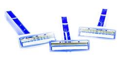 La hoja de afeitar muestra el frente Imagen de archivo