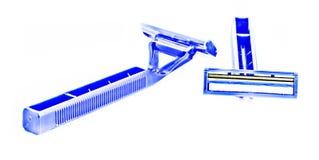 La hoja de afeitar muestra el frente Fotografía de archivo