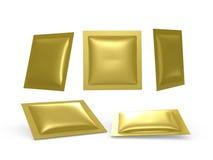 La hoja de oro cuadrada soldó el paquete en caliente con la trayectoria de recortes Fotografía de archivo