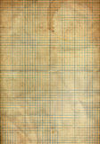 La hoja del papel plegable del gráfico manchó por el café Imagenes de archivo