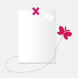 La hoja del papel y de la mariposa. Imagen de archivo