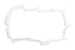La hoja grande del papel rasgado (aislado) Imagenes de archivo