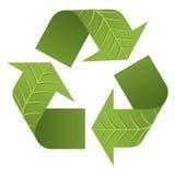 La hoja recicla el logotipo