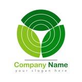 La hoja recicla verde del logotipo en blanco libre illustration