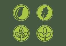La hoja verde sale de vector del logotipo ilustración del vector