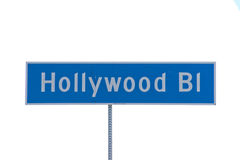 LA Hollywood Boulevard street sign Royalty Free Stock Photos