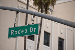 LA Hollywood Rodeo Drive sign Stock Photos