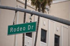 LA Hollywood Rodeo Drive sign stock photos