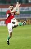 La Hongrie contre l'euro de l'UEFA de Moldau 2012 jeux de qualification Photos libres de droits