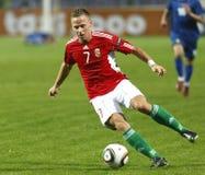 La Hongrie contre l'euro de l'UEFA de Moldau 2012 jeux de qualification Photographie stock