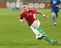 La Hongrie contre l'euro de l'UEFA de Moldau 2012 jeux de qualification Photo libre de droits
