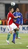 La Hongrie contre la Liechtenstein (5 : 0) Photographie stock