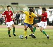 La Hongrie contre la Suède, qualificatif de coupe du monde de la FIFA Image libre de droits