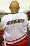 La Hongrie contre le match de hockey sur glace de championnat du monde de la Corée IIHF Images libres de droits