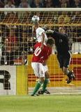 La Hongrie contre le Portugal, qualificatif de coupe du monde de la FIFA Photographie stock libre de droits