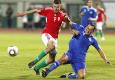 La Hongrie contre le Saint-Marin 8-0 Photos libres de droits