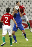 La Hongrie contre le Saint-Marin 8-0 Images libres de droits