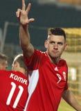 La Hongrie contre le Saint-Marin 8-0 Photo stock