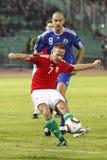 La Hongrie contre le Saint-Marin 8-0 Photo libre de droits