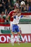 La Hongrie contre les Hollandes Matc 2016 du football de qualificateur d'euro de l'UEFA des Iles Féroé Images stock