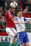 La Hongrie contre les Hollandes Matc 2016 du football de qualificateur d'euro de l'UEFA des Iles Féroé Photographie stock