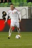 La Hongrie contre les Hollandes Match de football amical de la Russie Image libre de droits