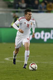 La Hongrie contre les Hollandes Match de football amical de la Russie Photo libre de droits