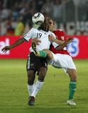La Hongrie contre les parties de football amicales de l'Allemagne Photographie stock