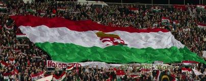 La Hongrie contre les parties de football néerlandaises Photos libres de droits