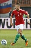 La Hongrie contre les parties de football néerlandaises Photos stock