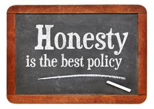 La honradez es el mejor proverbio de la política Fotos de archivo libres de regalías