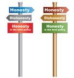 La honradez es la mejor política Fotos de archivo