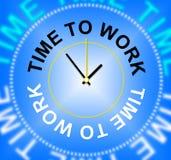 La hora de trabajar representa alquiler de alquiler y trabajó stock de ilustración