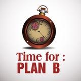 La hora para el gráfico de asunto del plan B Foto de archivo libre de regalías