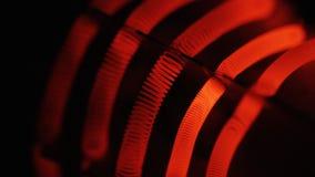 La hornilla del filamento del tungsteno calienta para arriba metrajes