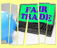La hucha del comercio justo significa las compras éticas de Fairtrade ilustración del vector