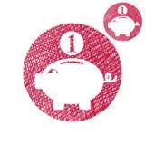 La hucha, monedas cobra ahorros del dinero que el vector del tema simple escoge Imagen de archivo libre de regalías