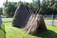 La hutte de Lénine sur la flaque de lac St Petersburg image stock
