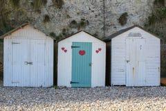 La hutte de plage avec l'amour Photographie stock libre de droits