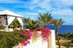La hutte de vue de mer à l'hôtel de luxe Images stock