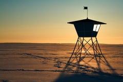 La hutte du maître nageur Image libre de droits