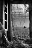 La hutte du pêcheur désolé Photos stock