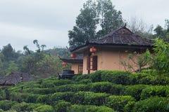 La hutte du village de Chinois de Yunnan images libres de droits