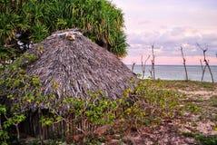 La hutte du villageois en île de Savu Images libres de droits
