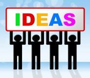 La idea de las ideas significa la invención y la innovación del concepto Foto de archivo