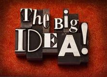 ¡La idea grande! Imágenes de archivo libres de regalías