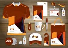 La identidad corporativa del negocio de los artículos del regalo, Vector color abstracto que los recuerdos promocionales diseñan  Imagenes de archivo