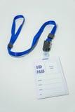 La identificación pasa, utilizado para exhibir la situación o la identidad del nombre Fotografía de archivo libre de regalías