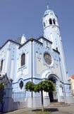 La iglesia (azul) del St Elisabeth del art déco en Bratislava Foto de archivo libre de regalías