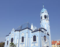 La iglesia (azul) del St Elisabeth del art déco en Bratislava Fotografía de archivo